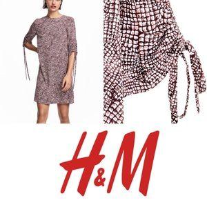 H&M Snake Skin Print Mini Sheath Dress NWT Size 2